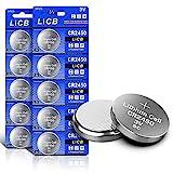 LiCB 10 Stück CR2450 3V Lithium Knopfzellen CR 2450...