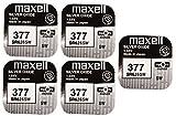 5 x Maxell SR626SW SR626 AG4 377 1.55v Watch Batteries...