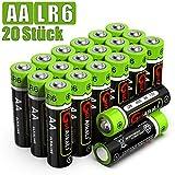 GutAlkaLi Batterien Mignon Alkali, AA,LR6, 20 Stück...