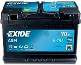 EXIDE EK700-L3 AGM PKW Starter-Batterie, Schwarz