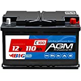 BIG AGM 110Ah 12V Solar Batterie Boot Camping...