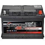 Autobatterie 12V 75Ah 720A BlackMax PKW Batterie...