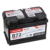 Accurat Autobatterie PowerCell 72Ah B72 Basic 12V 72Ah...