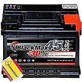 BlackMax Autobatterie 12V 45Ah Starterbatterie ersetzt...