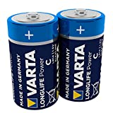 VARTA Longlife Power C Baby LR14 Batterie (2er Pack)...