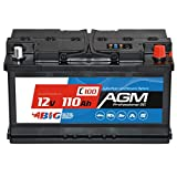 BIG AGM 110Ah C100 12V Solar Batterie Boot Camping...