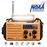 Solar Radio, Tragbare Notfall Radio mit Kurbel, Dynamo...