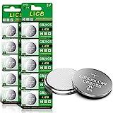 LiCB 10 Stück CR2025 3V Lithium Knopfzellen CR 2025...