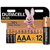 Duracell Plus AAA Micro Alkaline Batterien LR03, 12er...