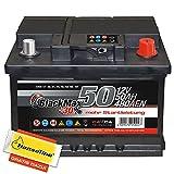 Autobatterie 12V 50Ah BlackMax PKW Batterie statt 44Ah...