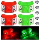 4 Stück Boot-Bogenlichter rot und grün LED Boot...