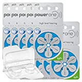 60x Power One 675 Hörgerätebatterien 10x6er Blister...