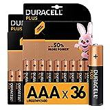 Duracell Plus AAA Micro Alkaline Batterien LR03, 36er...