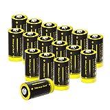 CR123A 3V Lithium Batterie, 16Stück 1500mAh CR17345...