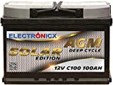 Solarbatterie 12V 100AH Electronicx Solar Edition AGM...