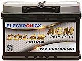 Solarbatterie 12V 100AH Electronicx Solar Edition AGM...