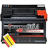BlackMax Autobatterie 12V 60Ah PKW Batterie statt 63Ah...