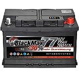 BlackMax Autobatterie 12V 77Ah 760A/EN Starterbatterie...