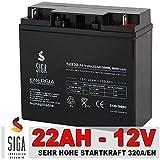 Blei Akku 22AH 12V AGM GEL Batterie Motorrad Batterie...