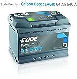 Exide EA640 Premium Carbon Boost Autobatterie 12V 640A...