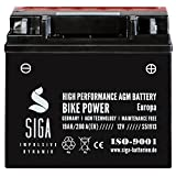Motorrad Batterie 51913 AGM 19Ah 12V 280A/EN für...