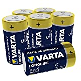 VARTA Longlife Batterie C Baby Alkaline Batterien LR14,...