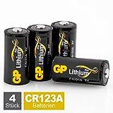 GP Batterien CR123A Lithium 3V Pro Schwarz-Gold (4...