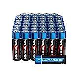 ANSMANN Batterien AA Alkaline Größe LR6 - AA Batterie...