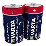 VARTA Longlife Max Power D Mono LR20 Batterie (2er...