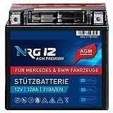 NRG Premium Stützbatterie 12V 12Ah AGM Backup Batterie...