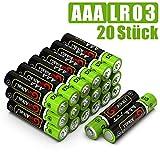 GutAlkaLi Batterien Mignon Alkali, AAA,LR03, 20 Stück...
