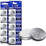 LiCB 10 Stück CR2032 3V Lithium Knopfzellen CR 2032...