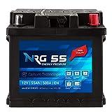 NRG Premium Autobatterie 12V 55Ah 500A/EN Batterie...