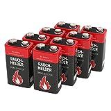 8 ANSMANN Alkaline longlife Rauchmelder 9V Block...