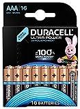 Duracell Ultra Power Alkaline AAA Batterien, 16er Pack