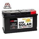 Solarbatterie 12V 90AH AGM Gel Batterie Wohnmobil Boot...