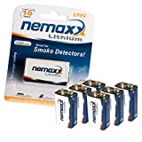 6X Nemaxx Lithium 9V Block Batterie Set für...