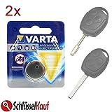 2X Schlüssel Batterie kompatibel für Ford Fiesta...