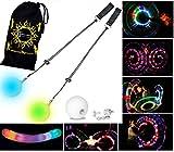 Pro Glow Poi - LED Poi Set + Stoff Reisetasche!...