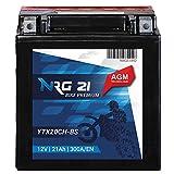 AGM Motorrad Batterie YTX20CH-BS YTX20A-BS 21Ah 12V...