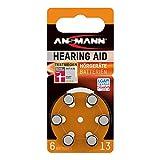 ANSMANN Hörgerätebatterien 13 orange Testsieger 6...