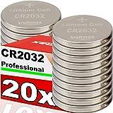 Kraftmax 20er Pack CR2032 Lithium Hochleistungs-...