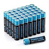 POWERADD AAA Alkaline Batterien LR03 Mignon Batterien...