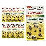 Hörgerätebatterien in der Größe 10 EarPower | Gelbe...