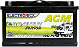 AGM Batterie 12v 110Ah Electronicx Caravan Edition...