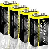 kraftmax 4er Pack Xtreme 9V Block Hochleistungs-...