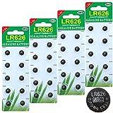 40 Stück AG4 LR626 1.5V Alkaline Knopfzelle Batterien...