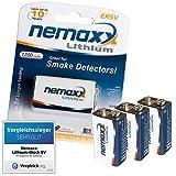 3X Nemaxx Lithium 9V Block Batterie Set für...