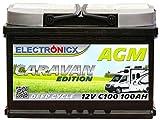 Electronicx Caravan Edition Batterie AGM 100AH 12V...