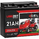 LANGZEIT Rasentraktor Batterie 12V 21Ah 250A/EN Gel...
